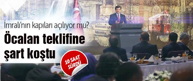 Davutoğlu'ndan Öcalan için üç şart!