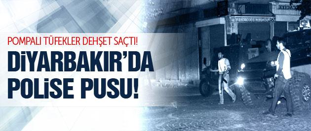 Diyarbakır'da polise pompalı pusu!