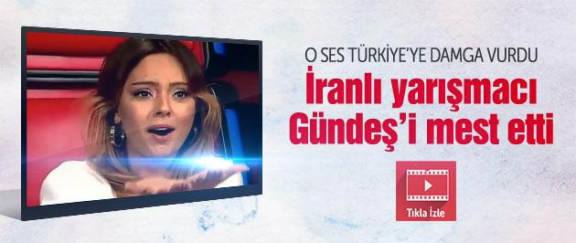İranlı yarışmacı Bagiri Ebru Gündeş'i mest etti
