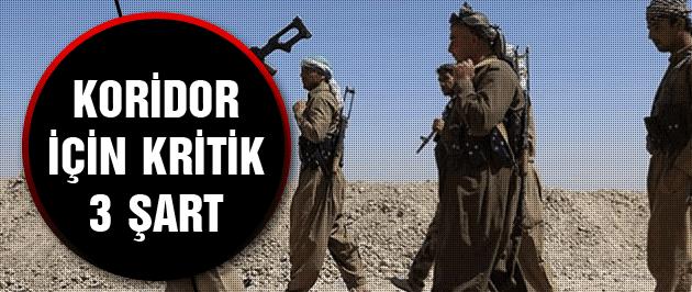 Türkiye'den koridor için kritik 3 şart!
