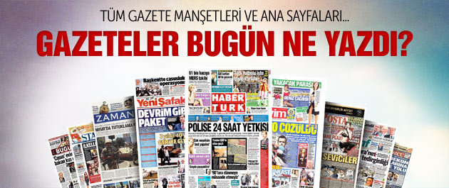 Gazete manşetleri 22 Ekim 2014