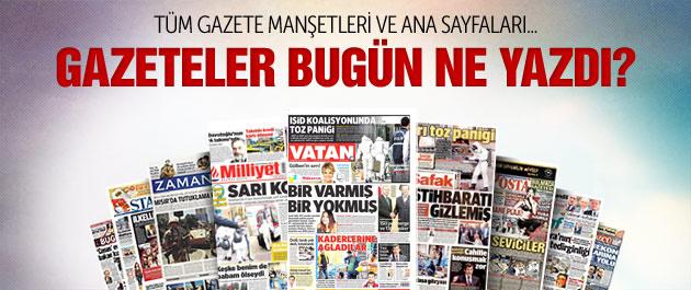 Gazete manşetleri 26 Ekim 2014