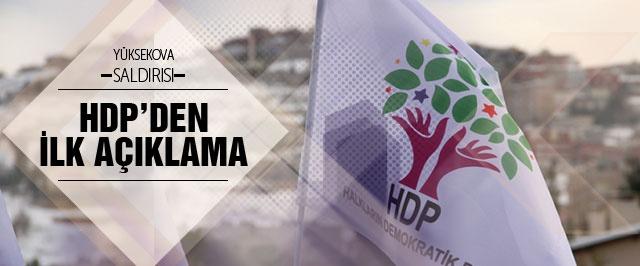 HDP'den Yüksekova saldırısı açıklaması
