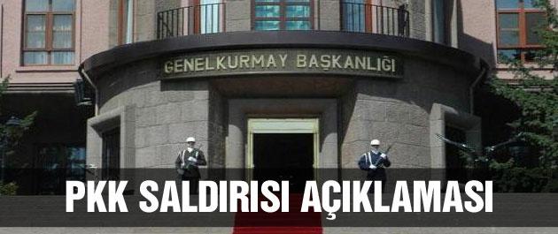 TSK'dan son dakika PKK saldırısı açıklaması