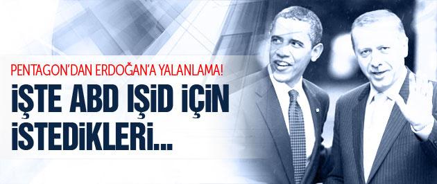 Pentagon'dan Erdoğan'ı yalanlayan IŞİD talebi!