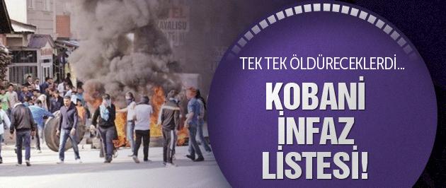 PKK'nın Kobani infaz listesi ele geçirildi!