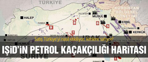 İşte IŞİD'in petrol kaynakları...