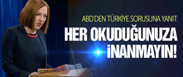 ABD'den Türkiye ididasına ilginç yanıt!