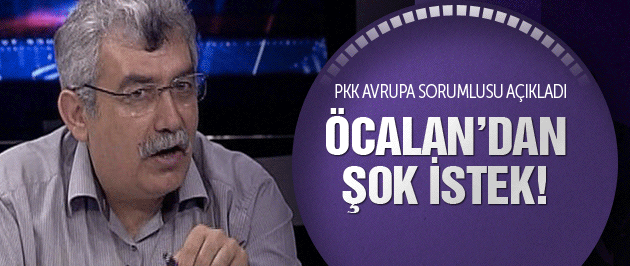 Zübeyir Aydar açıkladı! Öcalan'dan şok istek!