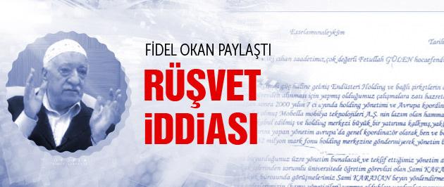 Şok iddia Fethullah Gülen'e rüşvet mektubu