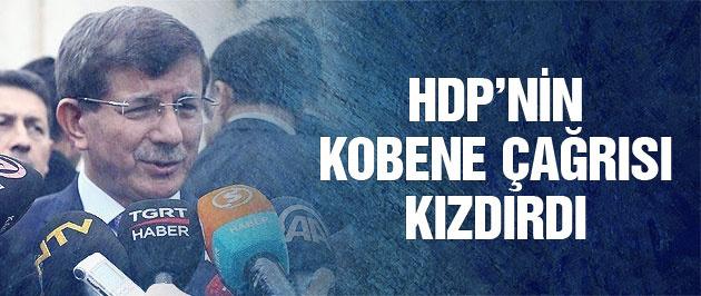 HDP'nin çağrısı Davutoğlu'nu kızdırdı!