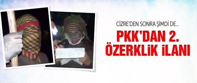 PKK Cizre'den sonra o ilçede özerklik ilan etti