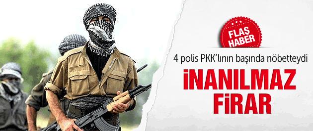 Diyarbakır'da PKK'lı 4 polisin elinden kaçtı