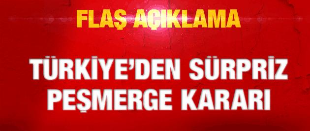 Türkiye'den sürpriz Peşmerge hamlesi