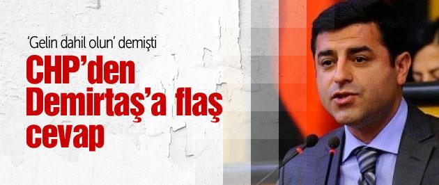 Demirtaş'ın çözüm süreci önerisine CHP'den yanıt