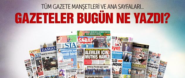 Gazete manşetleri 22 Kasım 2014