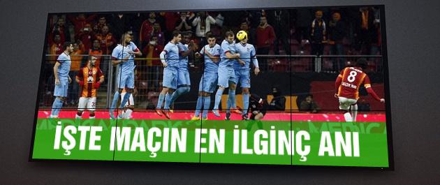 Galatasaray Trabzonspor maçında ilginç an