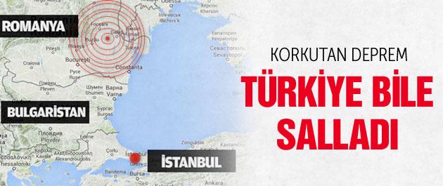 Korkutan deprem İstanbul'da bile hissedildi