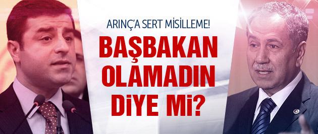 Demirtaş'tan Arınç'a yanıt: Başbakan olamadın diye mi?