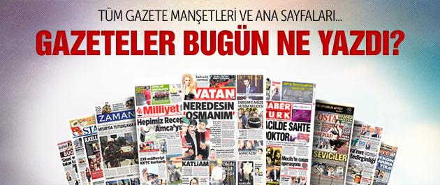 Gazete manşetleri 24 kasım 2014