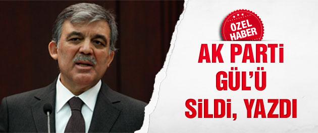 AK Parti Abdullah Gül'ü sildi mi?