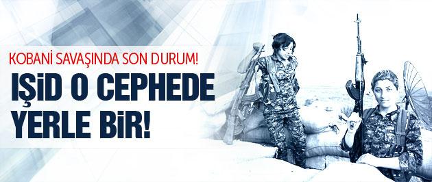 Kobani son durum! IŞİD o cephede yerle bir!