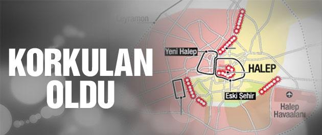 Halep son dakika Esad koridoru kapattı