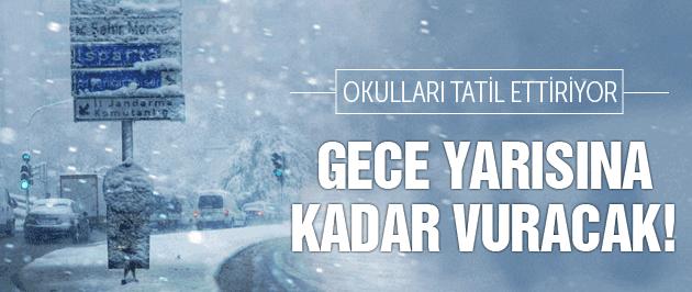 Meteoroloji'den okulları tatil ettiren kar alarmı