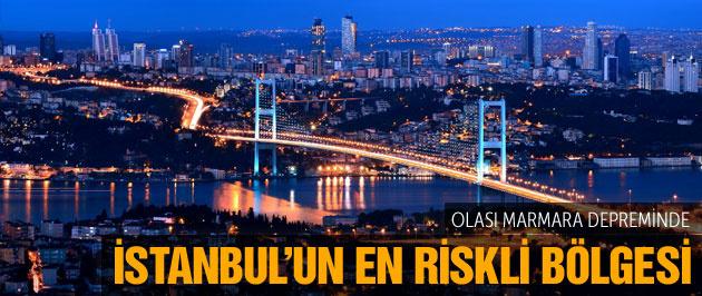 Büyük İstanbul depreminde en riskli bölge...