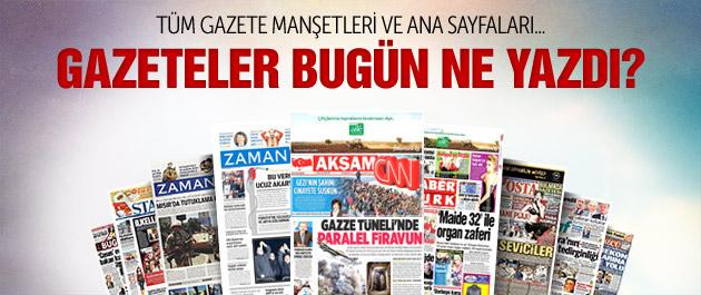 Gazete manşetleri 27 Kasım 2014