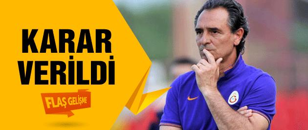 Galatasaray Prandelli kararını verdi