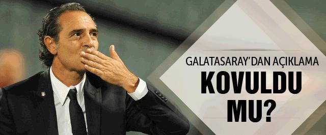 Galatasaray'dan son dakika Prandelli açıklaması
