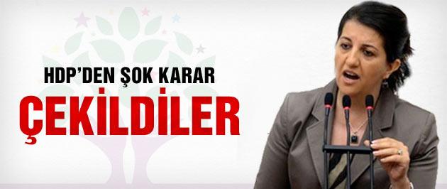 HDP'den son dakika çekilme kararı