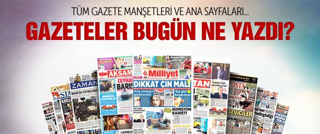 Gazete manşetleri 28 Kasım 2014