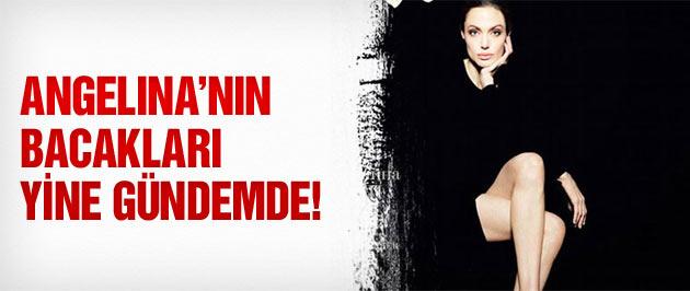 Angelina Jolie'nin bacakları yine gündemde!