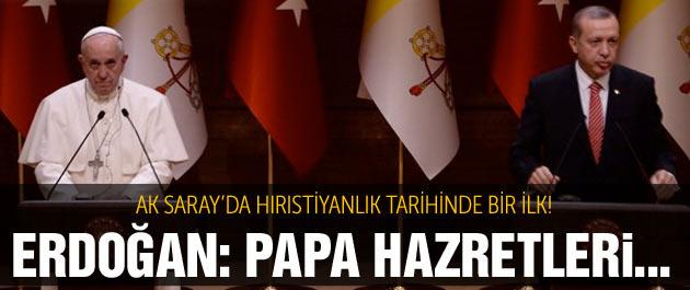 Papa geldi AK Saray'ı dünya izliyor canlı yayın