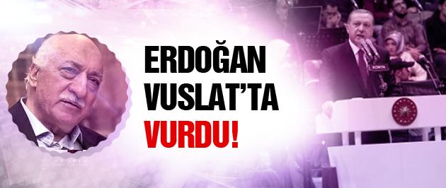 Erdoğan Vuslat gecesinde sert konuştu!