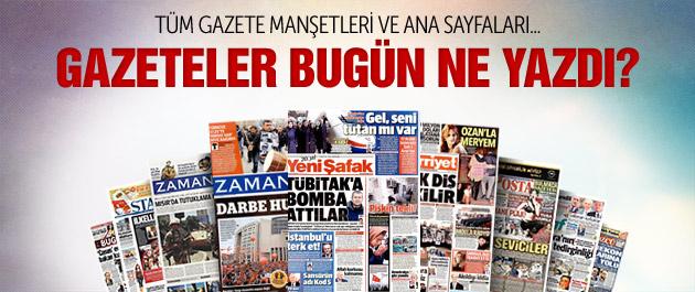 Gazete manşetleri 18 Aralık 2014
