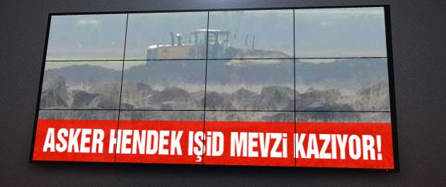 Türk askeri ve IŞİD karşılıklı sınırı kazıyor!
