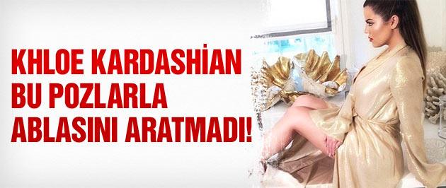 Khloe Kardashian'dan ablasını kıskandıran pozlar!
