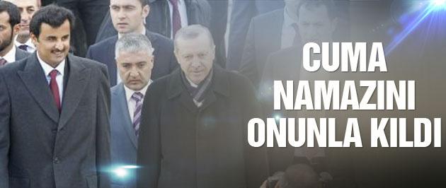 Erdoğan cuma namazını onunla kıldı!