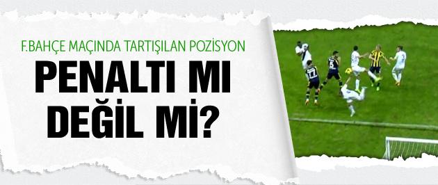 Fenerbahçe maçında tartışmalı penaltı
