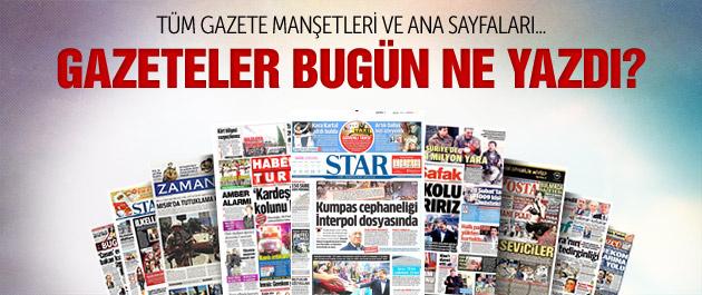Gazete manşetleri 22 Aralık 2014