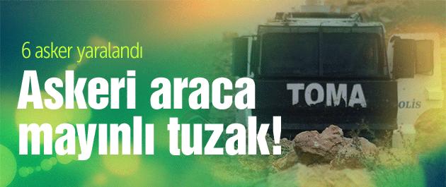 Mardin'de askeri araca mayınlı tuzak! 6 asker yaralı