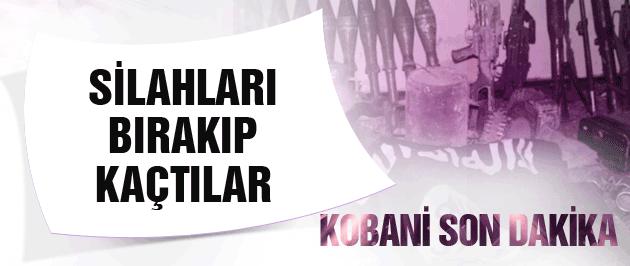 Kobani son dakika IŞİD silahları bırakıp kaçtı