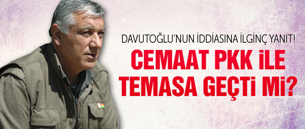 Cemil Bayık'tan Davutoğlu'nun cemaat iddiasına yanıt!