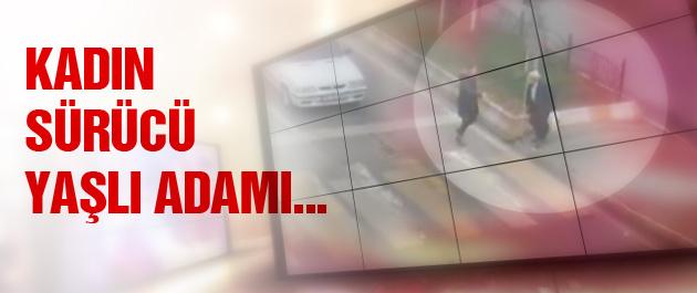 Kadın sürücü yaşlı adama bakın ne yaptı?