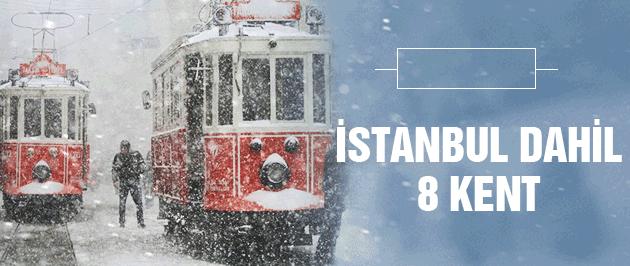Yılbaşında kar geliyor İstanbul dahil 8 il için uyarı