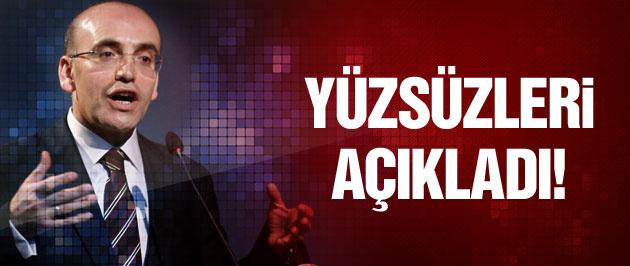 Mehmet Şimşek yüzsüzleri açıkladı