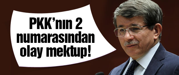 PKK'nın 2 numarasından Başbakan Davutoğlu'na mektup